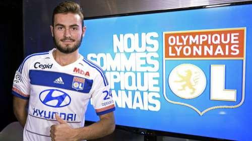 Lucas Tousart lors de sa présentation à l'OL