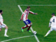 Fernando Torres au duel avec Dani Carvajal et Sergio Ramos