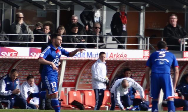Jordan Ferri lors d'un match face à Brest