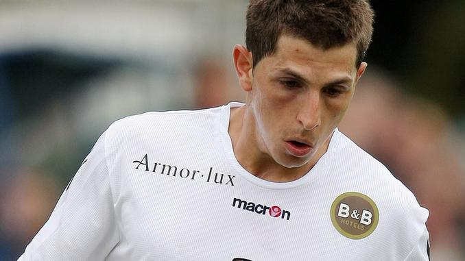 Julien Quercia sous le maillot du FC Lorient