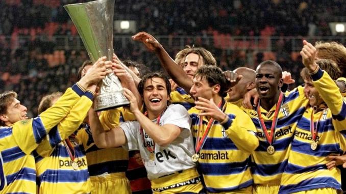 Parme vainqueur de la Coupe UEFA