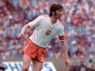 Kazimierz Deyna en action sous le maillot de la Pologne