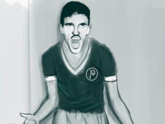 Jair avec le maillot de Palmeiras | Crédits illustration : Daniel Resende pour Palmeiras