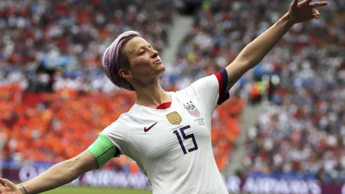 Megan Rapinoe a défrayée la chronique en prenant position pour les femmes durant le Mondial 2019