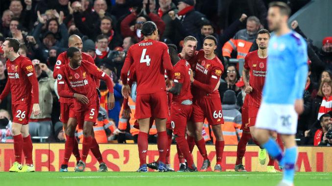 Liverpool prend le large mais garde en tête la remontée citizen de la saison dernière... (Crédits : PA)