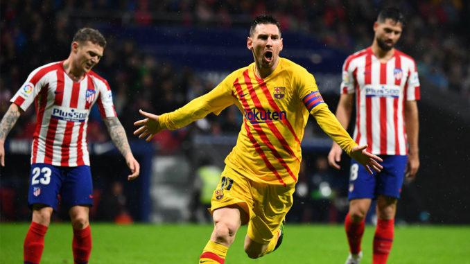 Messi face à l'Atlético Madrid.